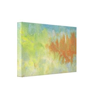 Pintura abstracta en tonos silenciados lona estirada galerias