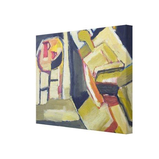 Pintura abstracta figurada moderna impresion de lienzo