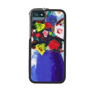 Pintura abstracta floral de las flores rojas bonit