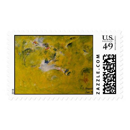 pintura abstracta franqueo