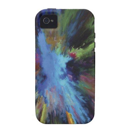 Pintura abstracta iPhone 4 carcasa