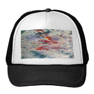 Pintura abstracta gorros bordados