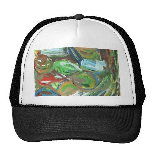 Pintura abstracta gorras de camionero