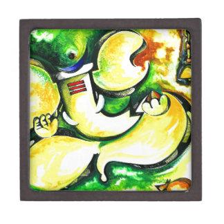 Pintura abstracta hecha a mano de señor Ganesha Caja De Joyas De Calidad