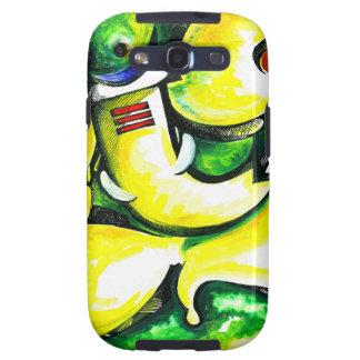 Pintura abstracta hecha a mano de señor Ganesha Carcasa Para Galaxy S3