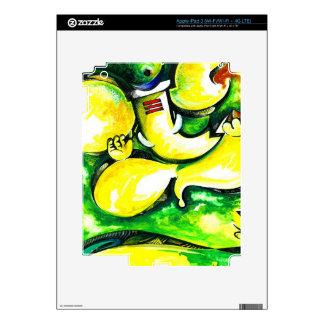 Pintura abstracta hecha a mano de señor Ganesha Pegatinas Skins Para iPad 3