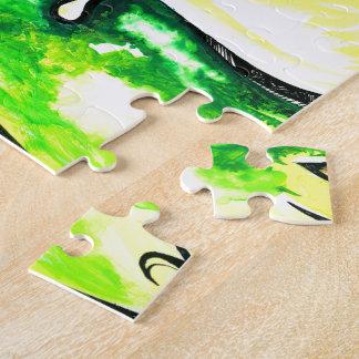 Pintura abstracta hecha a mano de señor Ganesha Puzzle