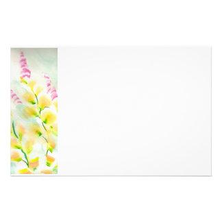 Pintura abstracta impresionista del estampado de f papelería personalizada