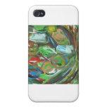 Pintura abstracta iPhone 4 protector