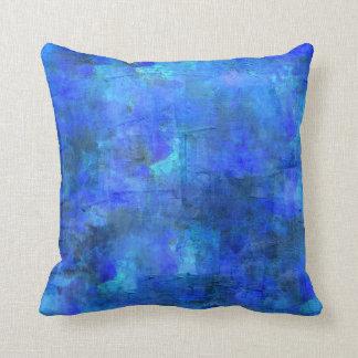 Pintura abstracta - mar azul fresco cojín