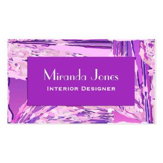 Pintura abstracta moderna de Digitaces - violeta y Tarjetas De Visita