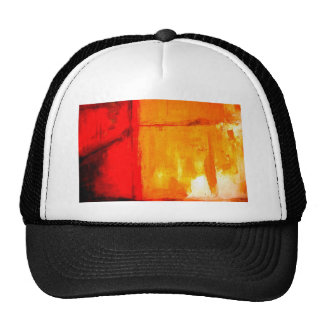 Pintura abstracta moderna gorras