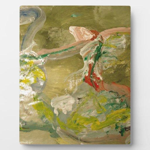 Pintura abstracta placas para mostrar
