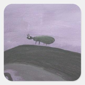 Pintura abstracta por s.b. Eazle Pegatina Cuadrada