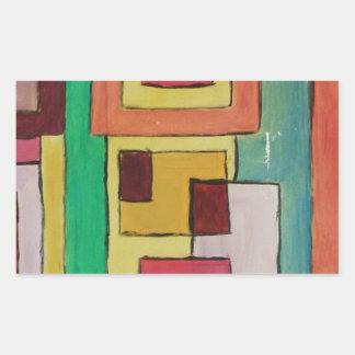 Pintura abstracta por s.b. Eazle Pegatina Rectangular