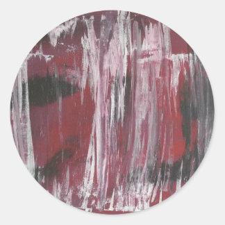 Pintura abstracta por s.b. Eazle Pegatina Redonda