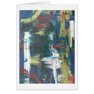 Pintura abstracta por s.b. Eazle Tarjeta De Felicitación