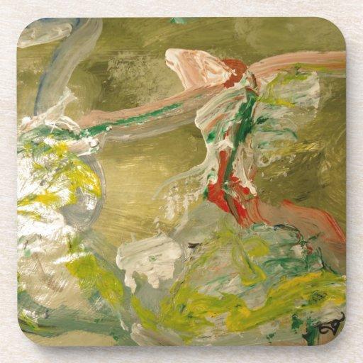 Pintura abstracta posavasos
