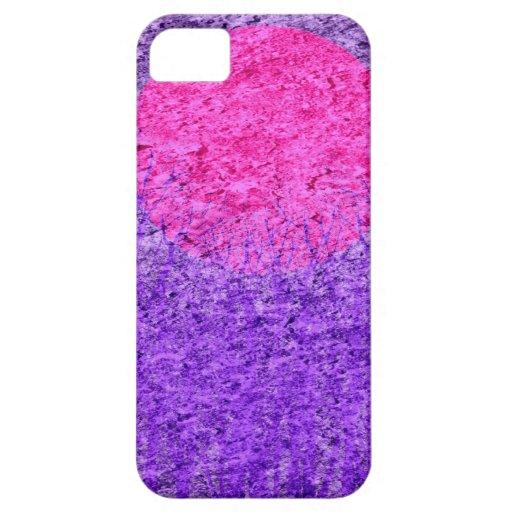 Pintura abstracta púrpura de la puesta del sol el iPhone 5 carcasas