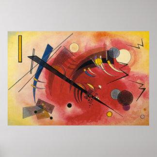 Pintura abstracta que hierve a fuego lento interna póster