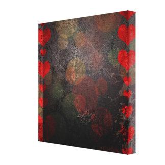 Pintura abstracta rústica del corazón lona estirada galerias