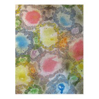 Pintura abstracta tarjetas postales