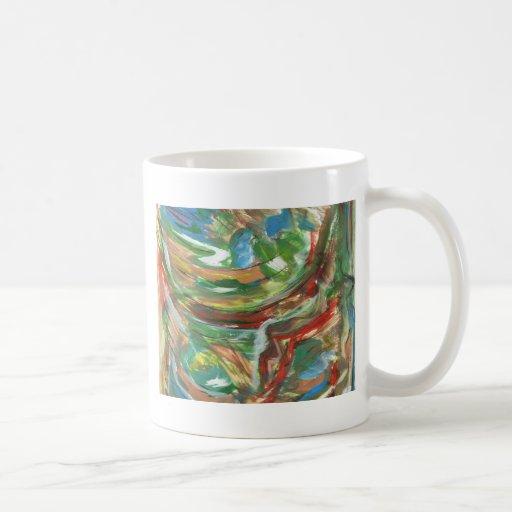Pintura abstracta taza