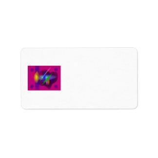 Pintura abstracta translúcida de alta calidad etiquetas de dirección