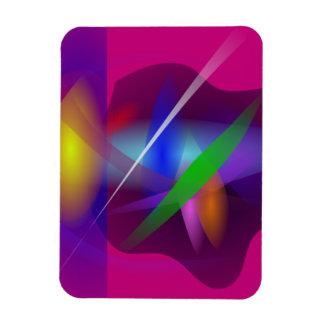 Pintura abstracta translúcida de alta calidad imán de vinilo