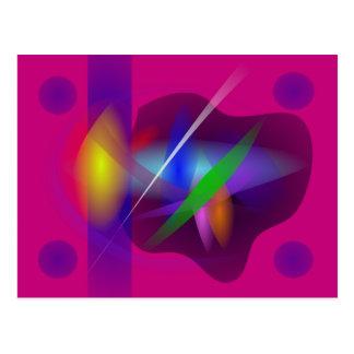 Pintura abstracta translúcida de alta calidad postal