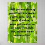 Pintura abstracta verde de las acuarelas de la sel impresiones