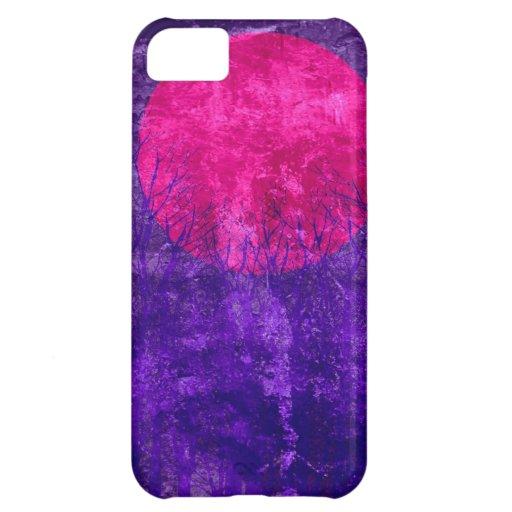 Pintura abstracta violeta 2 de la puesta del sol e