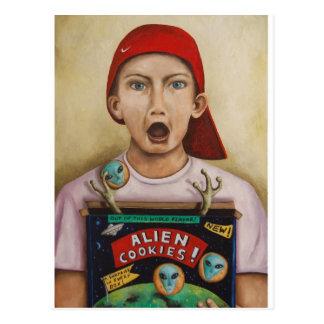 Pintura acabada galletas extranjeras tarjetas postales