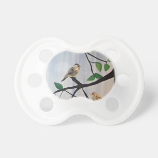 Pintura adorable del pájaro chupetes de bebe
