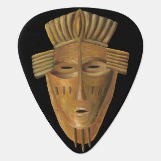 Pintura africana de la máscara de Chariklia Zarris Púa De Guitarra