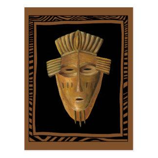Pintura africana de la máscara de Chariklia Zarris Postal