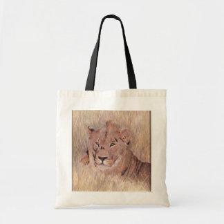 Pintura africana del león