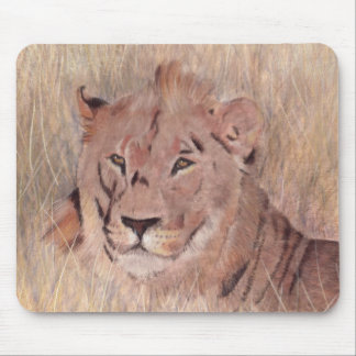 Pintura africana del león tapetes de ratones
