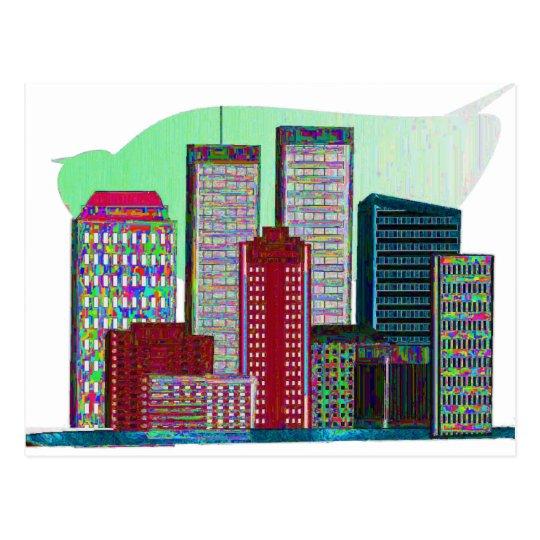 PINTURA AL ÓLEO #1 de las torres gemelas Postales