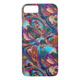 Pintura al óleo abstracta inspirada funda iPhone 7