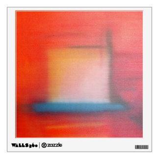 Pintura al óleo abstracta roja descolorada