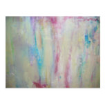 Pintura al óleo abstracta tarjetas postales
