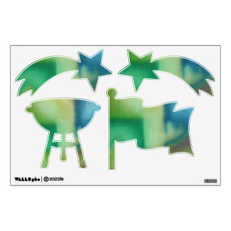 Pintura al óleo abstracta verde descolorada