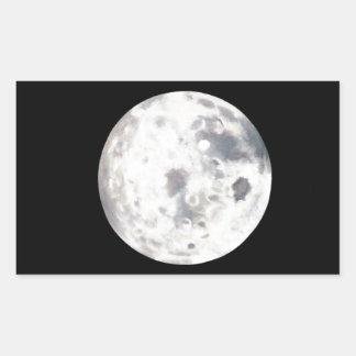 Pintura al óleo blanco y negro de la Luna Llena Rectangular Altavoz