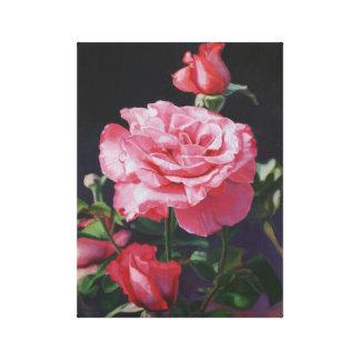 Pintura al óleo color de rosa en lona impresiones de lienzo