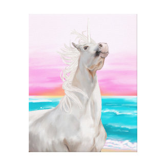 Pintura al óleo de Digitaces del unicornio en lona Impresión En Tela