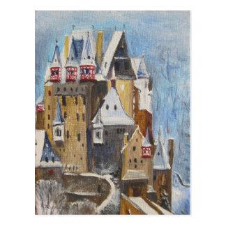 Pintura al óleo de Eltz del Burg Tarjetas Postales