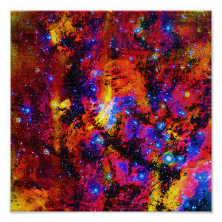 Pintura al óleo de Fauvist de la nebulosa de la Póster