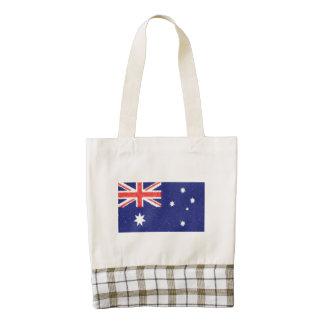 Pintura al óleo de la bandera de Australia Bolsa Tote Zazzle HEART