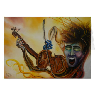 Pintura al óleo de la canción de Kims Tarjeta De Felicitación